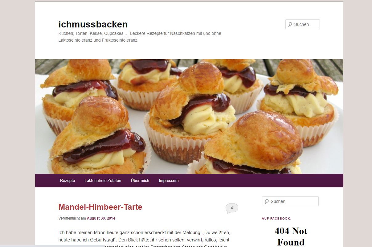 Screenshot vom Blog www.ichmussbacken.com vom 5. September 2014