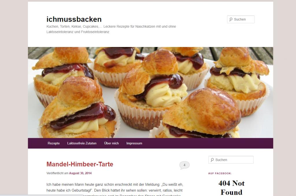 Blog ichmussbacken.com, Startseite, 2014
